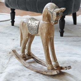 Cavallo decorativo Wayne marrone antico