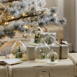 Set di 5 decorazioni natalizie Winterforest trasparente